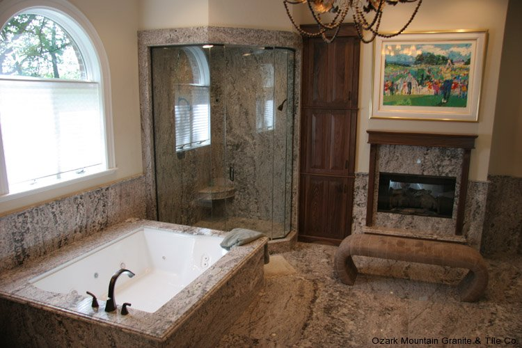 Bathroom granite countertops gallery for Tile countertops bathroom ideas